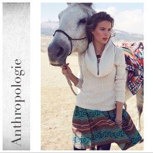 Anthropologie Iremel Brocade Skirt By Nomad